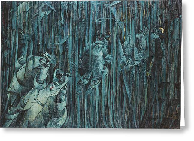 States Of Mind Those Who Stay, 1911 Oil On Canvas Greeting Card by Umberto Boccioni