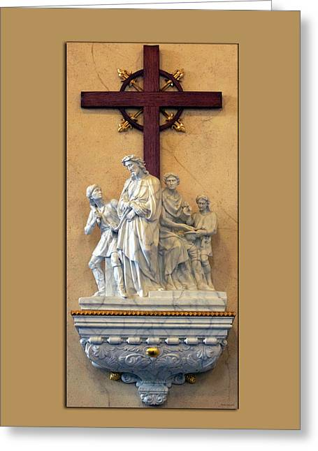 Station Of The Cross 01 Greeting Card by Thomas Woolworth