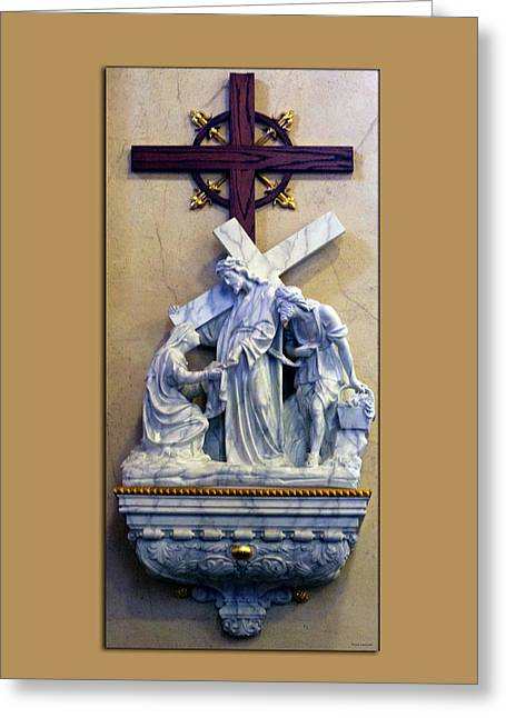 Station Of The Cross 06 Greeting Card by Thomas Woolworth