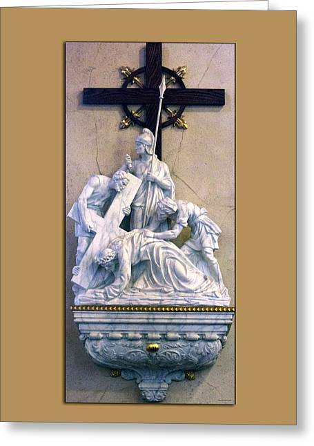 Station Of The Cross 07 Greeting Card by Thomas Woolworth