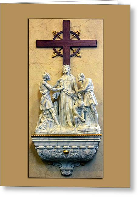 Station Of The Cross 10 Greeting Card by Thomas Woolworth