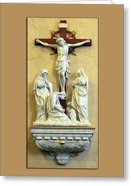 Station Of The Cross 12 Greeting Card by Thomas Woolworth
