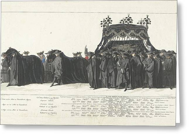 Station Of William Iv, 1752, Plate 27, Jan Punt Greeting Card