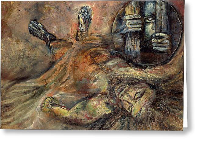 Station Xiv Jesus Is Laid In The Tomb Greeting Card by Patricia Trudeau