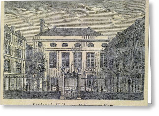 Stationer's Hall Near Paternoster Row Greeting Card by British Library