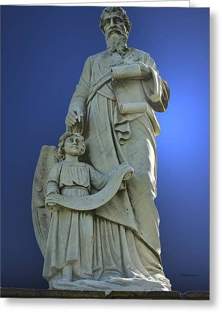 Statue 05 Greeting Card by Thomas Woolworth
