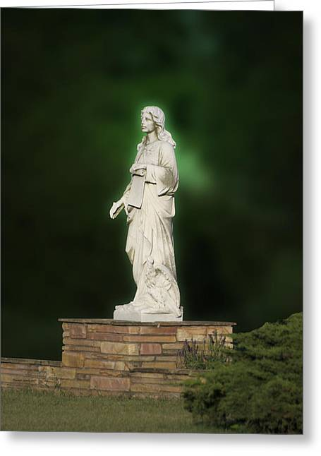 Statue 07 Greeting Card by Thomas Woolworth