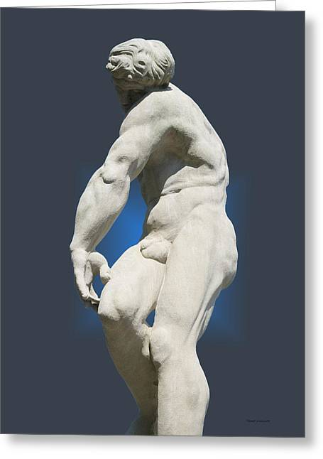 Statue 10 Greeting Card by Thomas Woolworth
