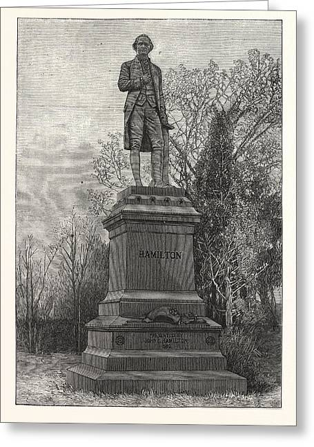 Statue Alexander Hamilton, Central Park Greeting Card by American School