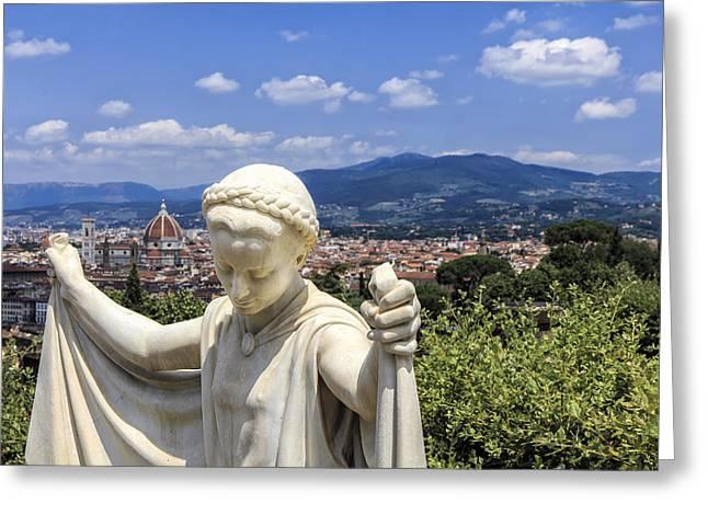 Statue At San Miniato Al Monte Greeting Card