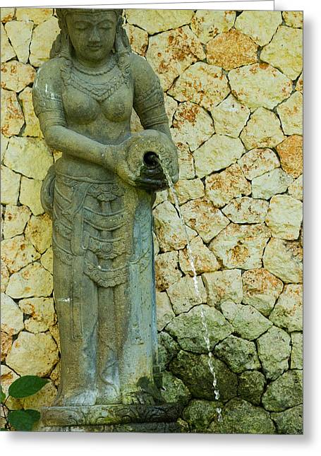 Greeting Card featuring the photograph Statue - Bali by Matthew Onheiber
