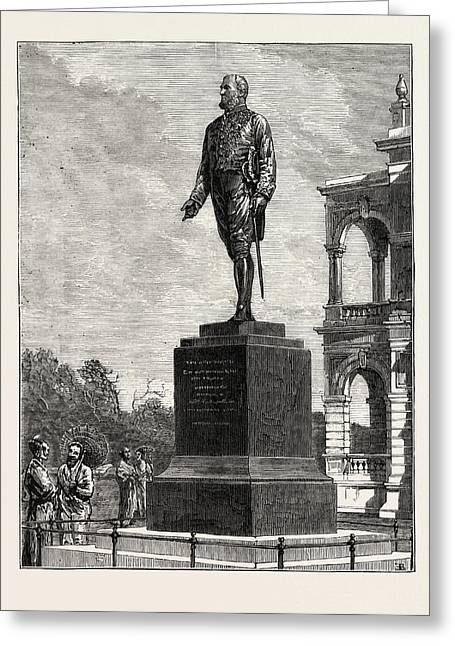 Statue Erected At Colombo To Sir William Gregory Greeting Card by English School