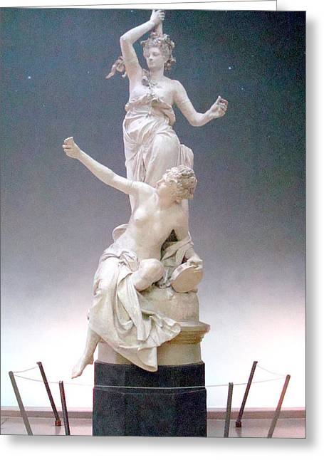 Statue In Paris Greeting Card by Kay Gilley