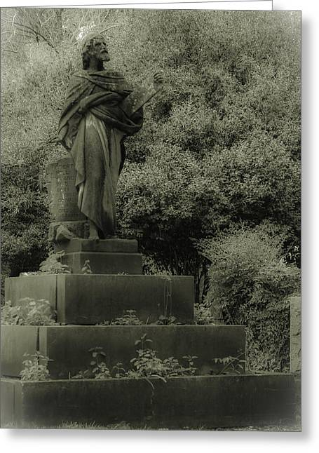 Statue Greeting Card by Jennifer Burley