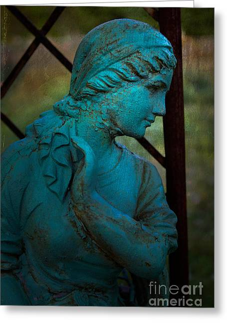 Statue No. 1 Greeting Card by Jerry Fornarotto