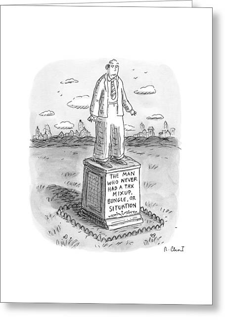 Statue Of A Man Greeting Card