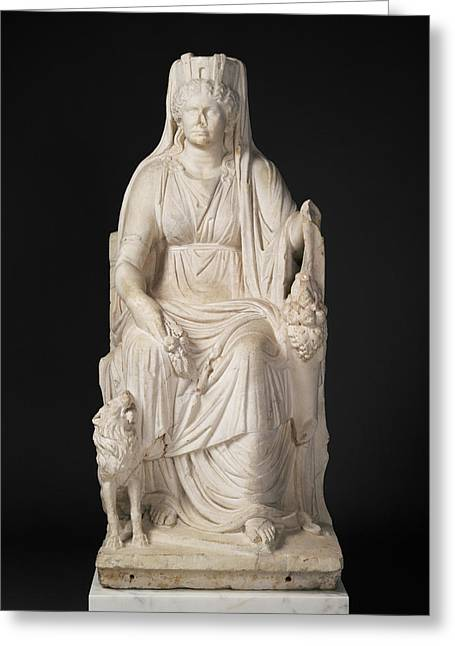 Statue Of A Seated Cybele With The Portrait Head Greeting Card by Litz Collection