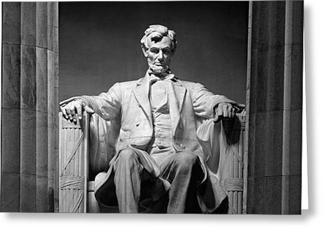 Statue Of Abraham Lincoln Greeting Card by Panoramic Images