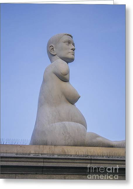 Statue Of Alison Lapper Greeting Card by Patricia Hofmeester