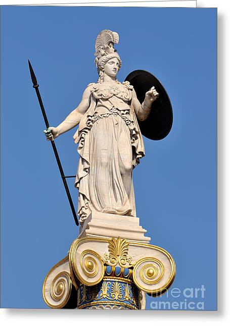 Statue Of Athena Greeting Card