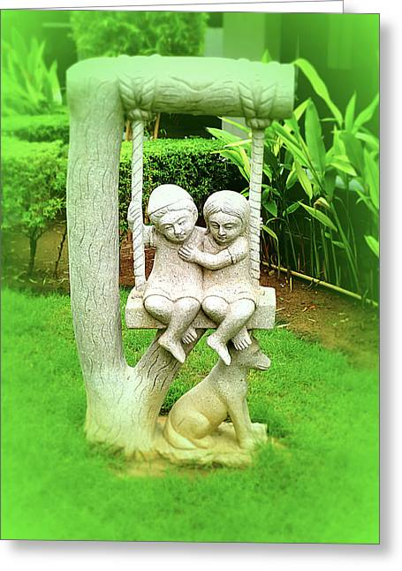 Statue Of Brotherhood  Greeting Card by Girish J