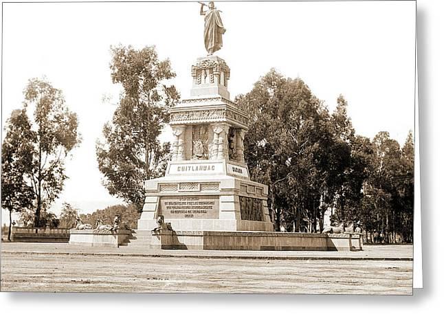 Statue Of Cuitlahuac I.e Greeting Card