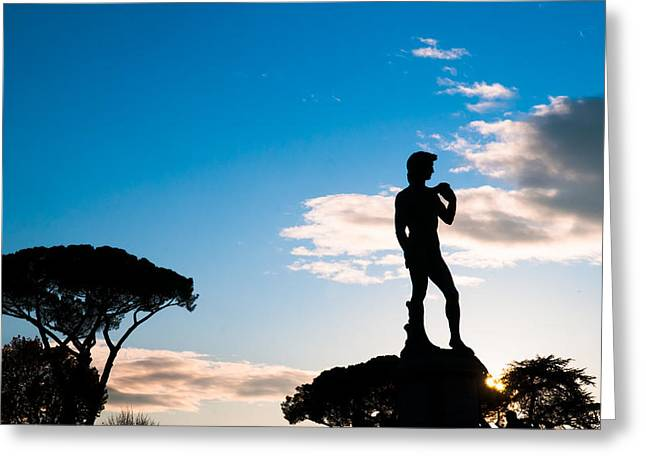 Greeting Card featuring the photograph Statue Of David by Avian Resources