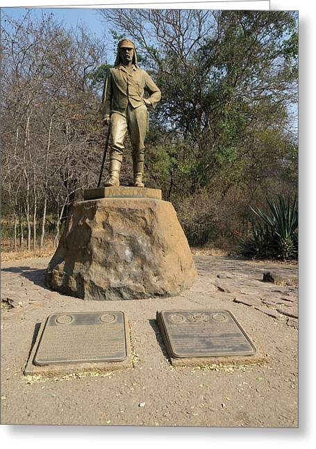 Statue Of David Livingstone Greeting Card by Panoramic Images