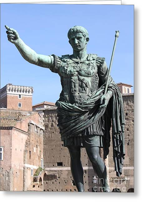 Statue Of Emperor Augustus Greeting Card by Alessandro Russo