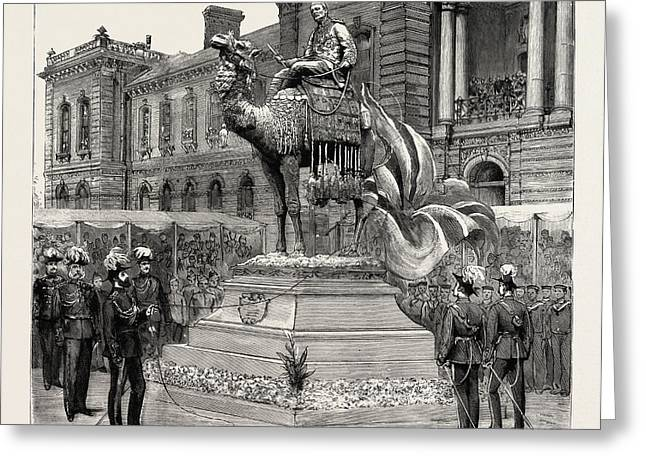 Statue Of General Gordon, Brompton Barracks Greeting Card by English School