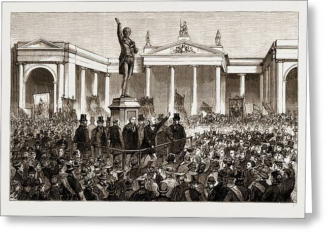 Statue Of Henry Grattan At Dublin, Ireland Greeting Card by Litz Collection