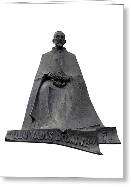 Statue Of Henryk Sienkiewicz  Greeting Card