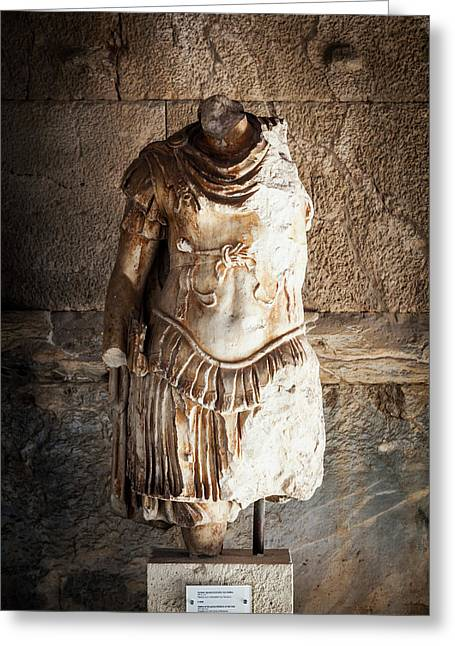 Statue Of IIlad  Athens, Greece Greeting Card