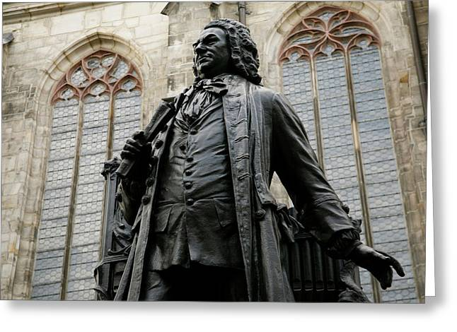 Statue Of J S Bach, Beloved Classical Greeting Card by Dave Bartruff