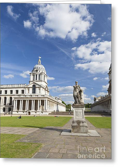 Statue Of King George II As A Roman Emperor In Greenwich Greeting Card by Roberto Morgenthaler