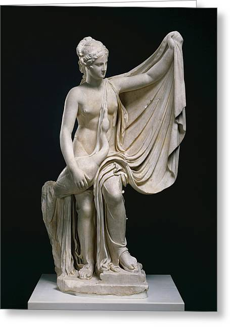 Statue Of Leda And The Swan Unknown Roman Empire 1st Greeting Card
