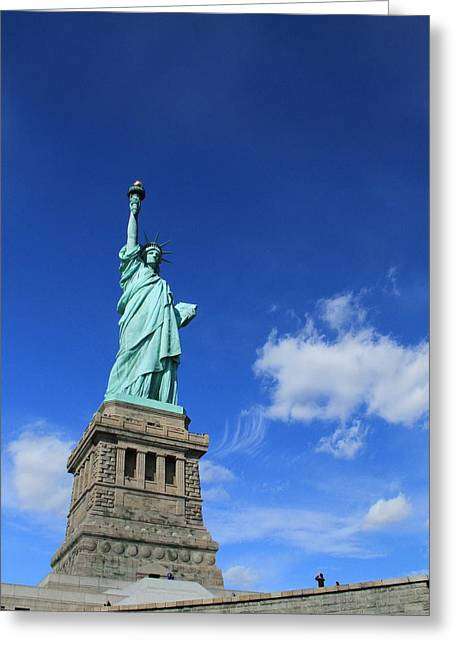 Statue Of Liberty Greeting Card by Dan Sproul