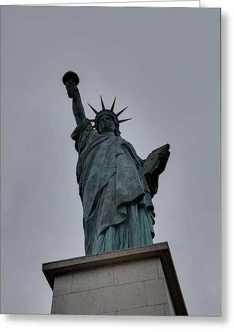Statue Of Liberty - Paris France - 01131 Greeting Card by DC Photographer
