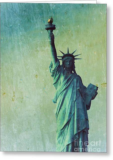 Statue Of Liberty Greeting Card by Sophie Vigneault