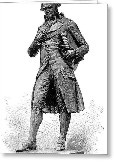 Statue Of Nicolas De Condorcet Greeting Card by Science Photo Library