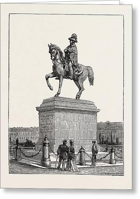 Statue Of Prince Schwarzenberg, Vienna, Austria Greeting Card by Austrian School