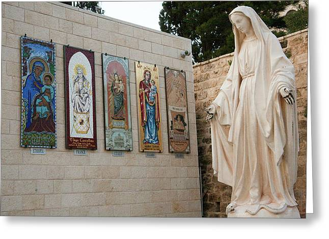 Statue Of The Virgin Mary, Mother Greeting Card by Dave Bartruff