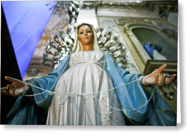 Statue Of The Virgin Mary, San Miguel Greeting Card