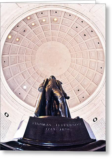 Statue Of Thomas Jefferson Greeting Card by Panoramic Images