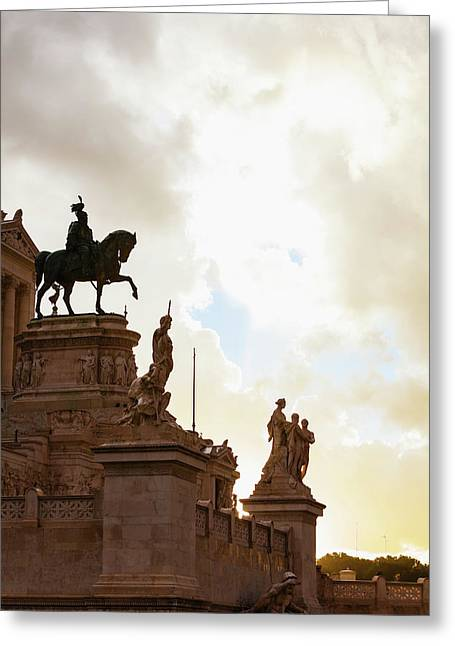 Statue Of Victor Emmanuel  Rome, Italy Greeting Card by Reynold Mainse