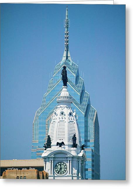 Statue Of William Penn On The Top Greeting Card