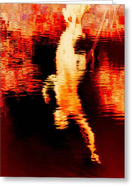 Statue Reflection Greeting Card by Randall Weidner