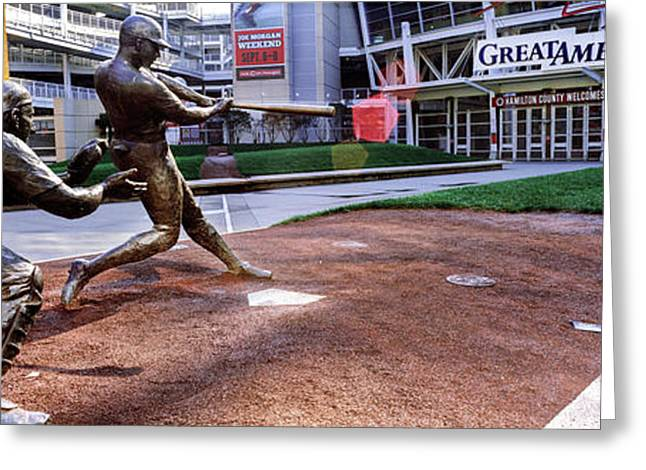 Statues Of Baseball Players Greeting Card by Panoramic Images