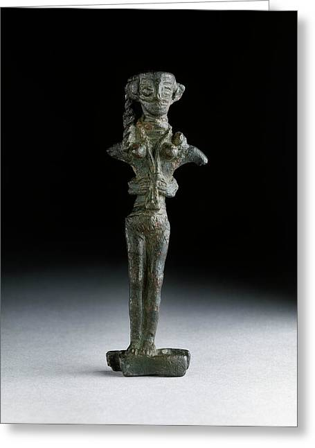 Statuette Of Astarte Greeting Card by Ashmolean Museum/oxford University Images
