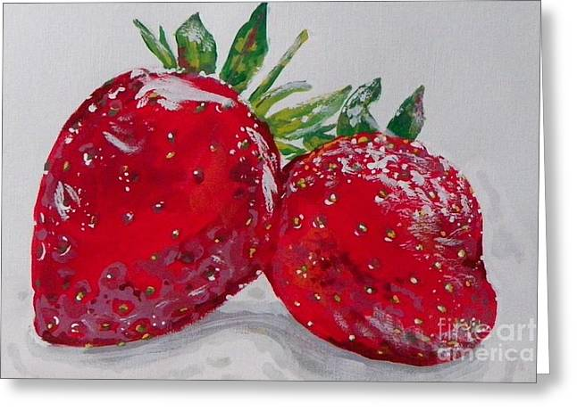 Stawberries Greeting Card